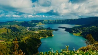 Breathtaking Lake In Azores, Portugal : Stock Video
