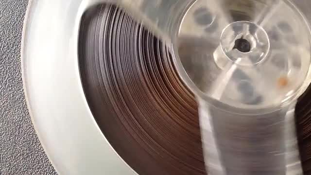 Analog Stereo Reel Closeup: Stock Video