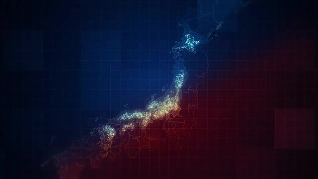 Japan Islands Night Lighting Pack: Stock Motion Graphics