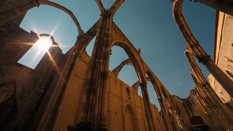 Convent In Lisbon, Portugal: Stock Video