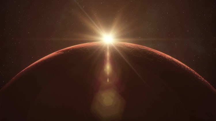 Mars Sunrise: Stock Motion Graphics