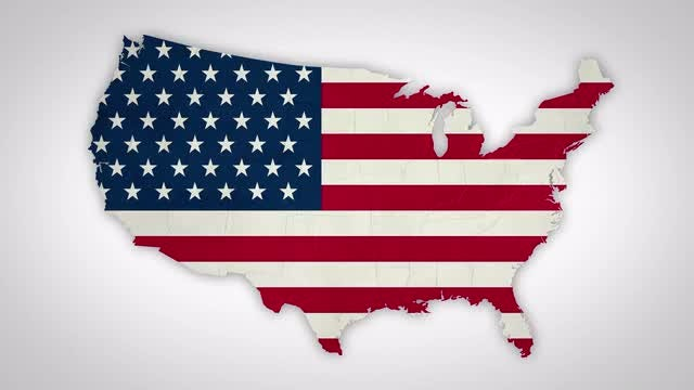 USA Flag States Combine: Stock Motion Graphics
