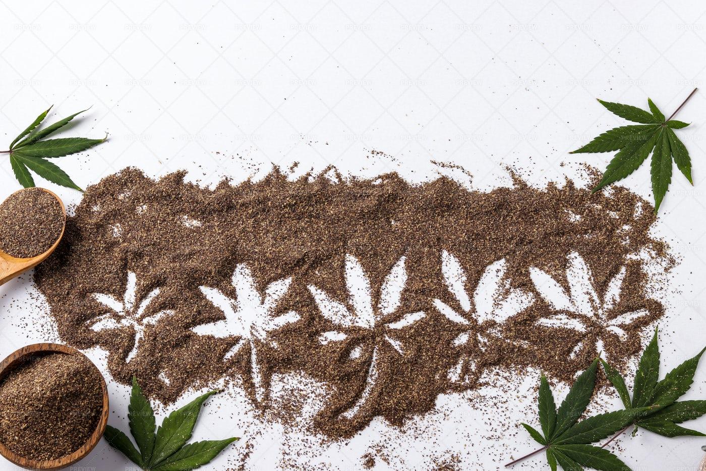 Bran Made From Cannabis: Stock Photos