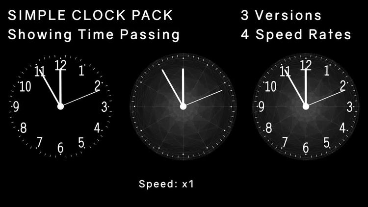 Simple Clock Pack: Motion Graphics