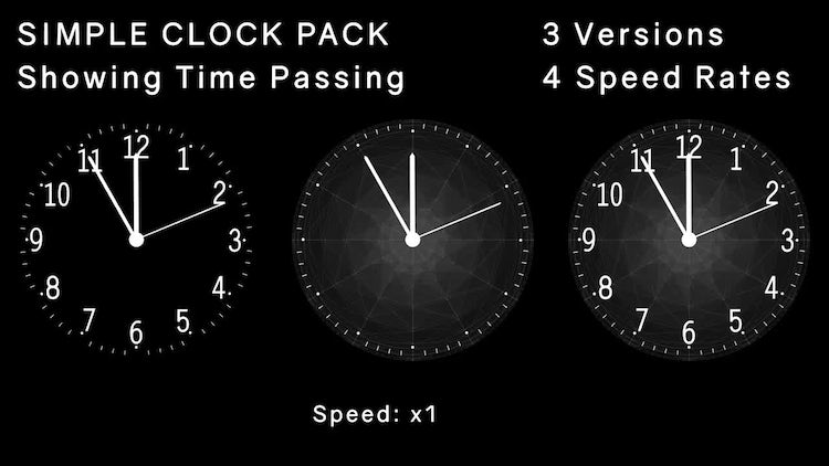 Simple Clock Pack: Stock Motion Graphics