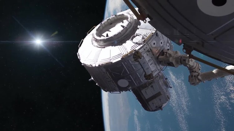 Space Station Construction: Stock Motion Graphics