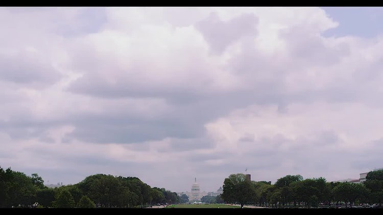 Capitol Hill Time-lapse With US Congress: Stock Video