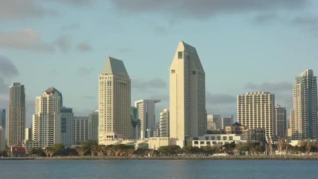 Downtown San Diego Closeup: Stock Video