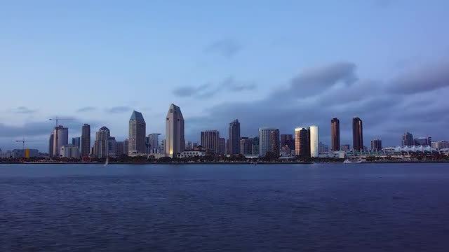 San Diego City Lights: Stock Video