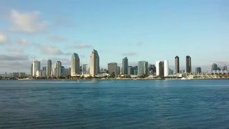 Downtown San Diego Time Lapse: Stock Video