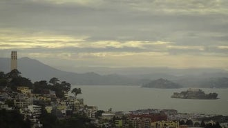 San Francisco Bay Panorama: Stock Video