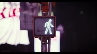 Pedestrian Traffic Light: Stock Video