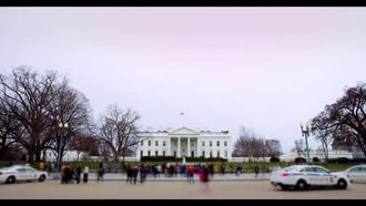 Front Side Of White House : Stock Video