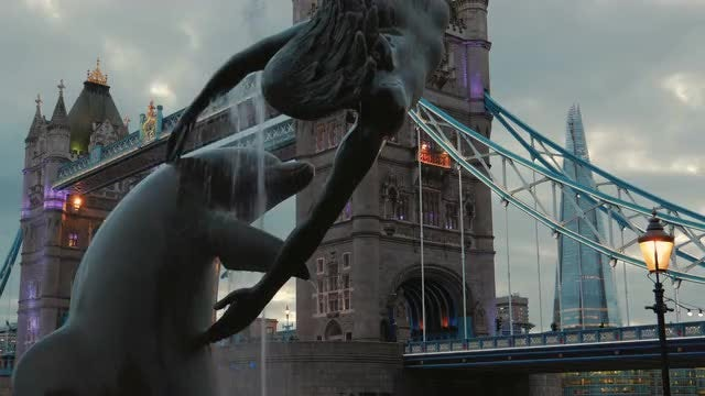 Time-Lapse Of Tower Bridge London, England: Stock Video