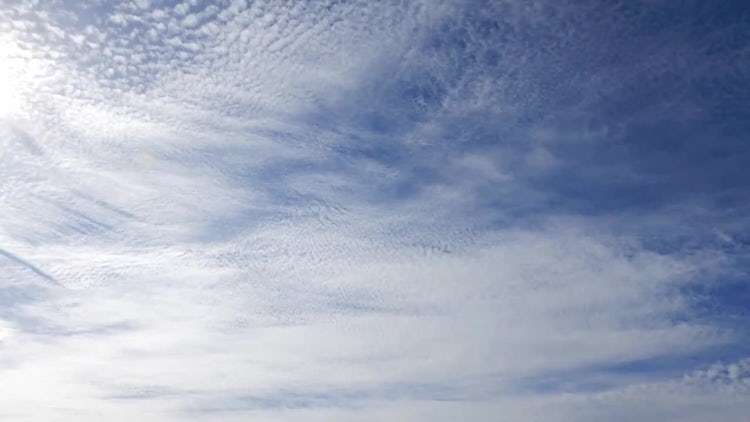 White Cirrus Clouds Time Lapse: Stock Video