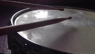 Playing On The Snare Drum. Time Lapse: Stock Footage