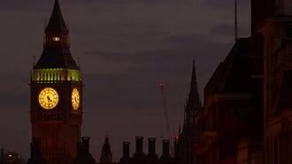 Big Ben In London: Stock Footage