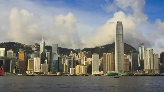 Time-Lapse Downtown Hong Kong 24MM: Stock Video