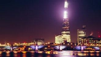 Southwark Bridge At Night : Stock Video