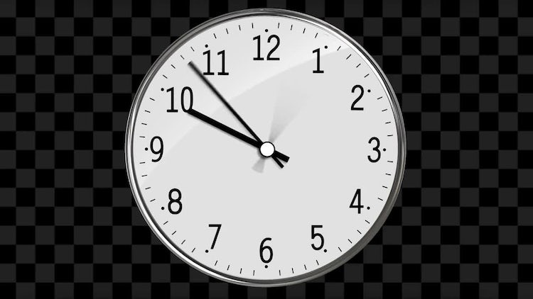 Classic Clock Passing 12 Hours: Stock Motion Graphics