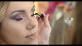 Fashion And Beauty: Eye Makeup: Stock Video