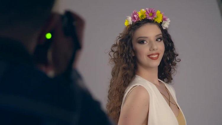 Fashion Photo Shoot - Goddess: Stock Video