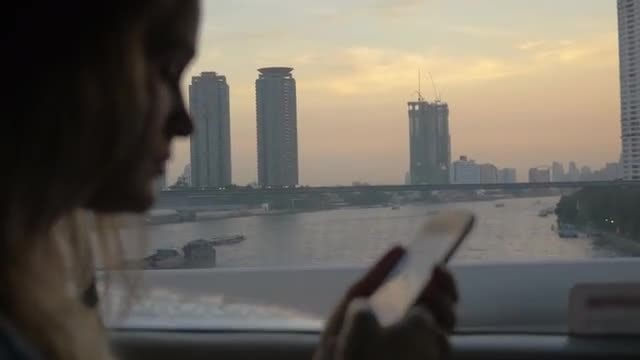 Woman Texting On A Smartphone : Stock Video