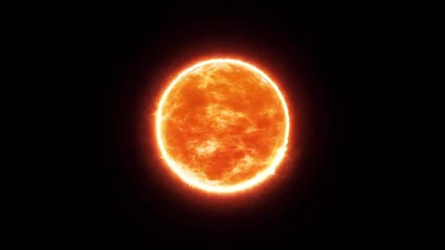 The Sun In Space Alpha Channel: Stock Motion Graphics