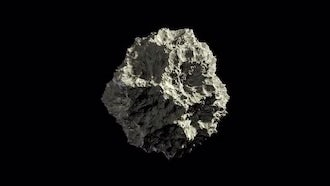 Asteroid Rock In Space Loop Alpha: Motion Graphics