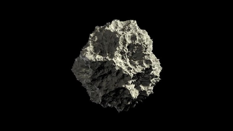 Asteroid Rock In Space Loop Alpha: Stock Motion Graphics