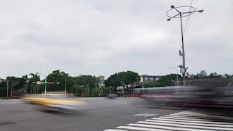 Traffic Time Lapse - Taipei, Taiwan: Stock Video