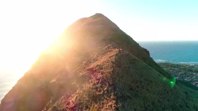 Oahu West Pillbox Ridge Hike: Stock Video