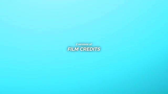 Epic Film Credits Pack: After Effects Templates