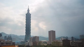Big City Time Lapse Taiwan Asia: Stock Video