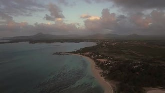 View Of Coast Line Of Mauritius Island: Stock Video