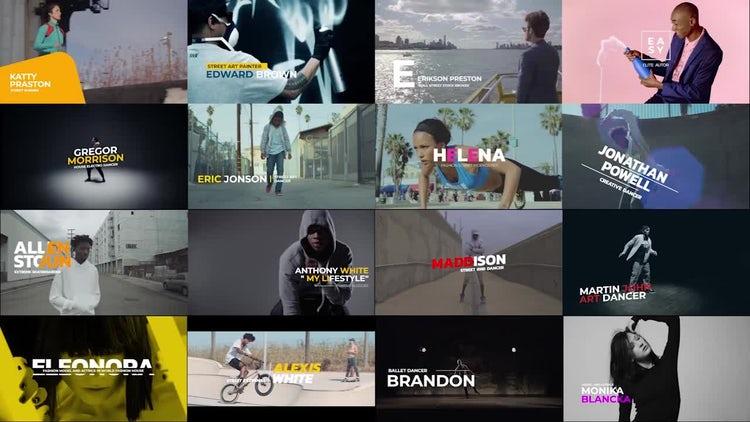 Modern Lower Thirds: Premiere Pro Templates