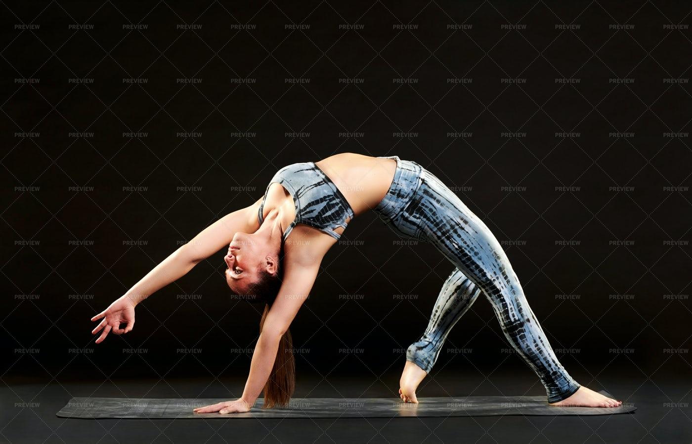 Woman Stretching: Stock Photos