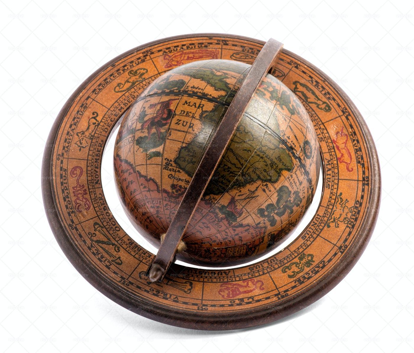 Vintage World Globe: Stock Photos