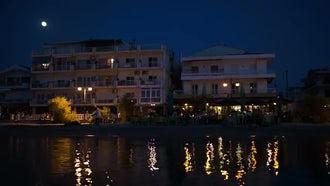 Nightlife On The Beach Resort: Stock Video