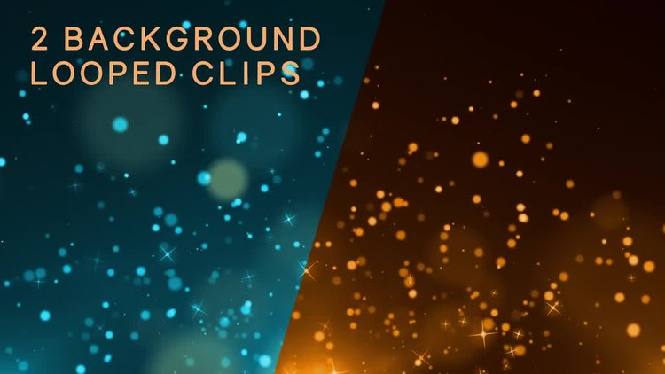 Glistening Particles Background Pack: Stock Motion Graphics