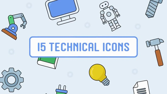 15 Free Animated Technical Icons: After Effects Templates