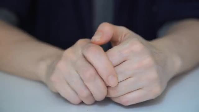 Stressed Hand Actions: Stock Video