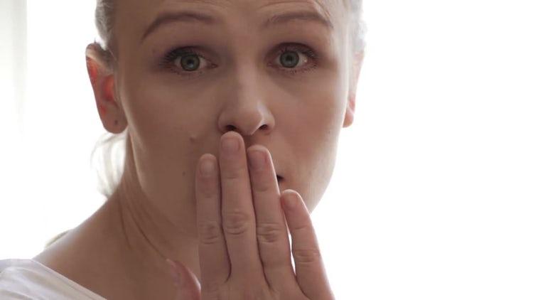 Girl Looking Surprised : Stock Video