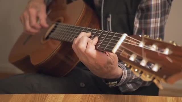 Retired Old Man Playing Guitar: Stock Video