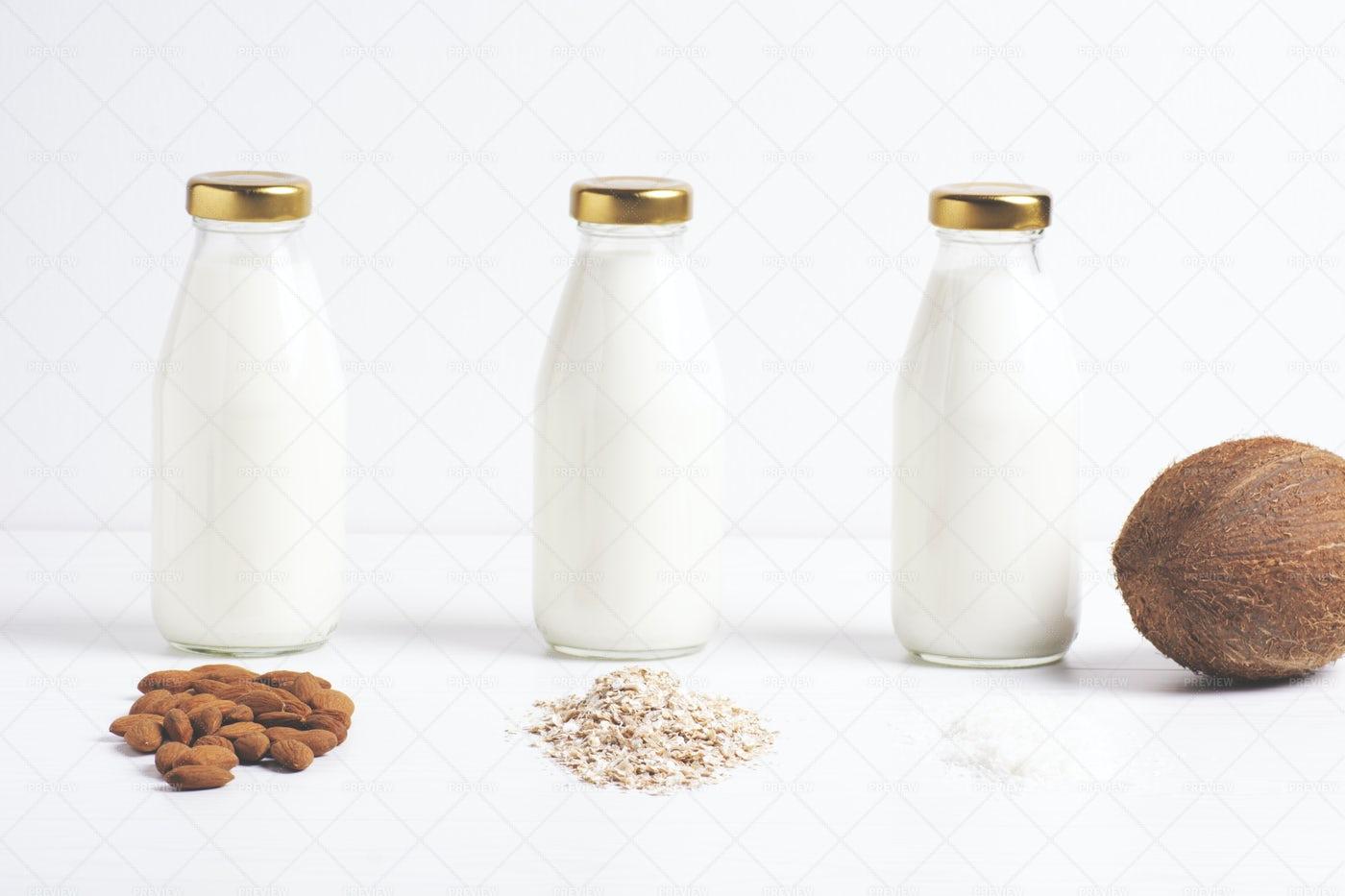 Different Types Of Milk: Stock Photos