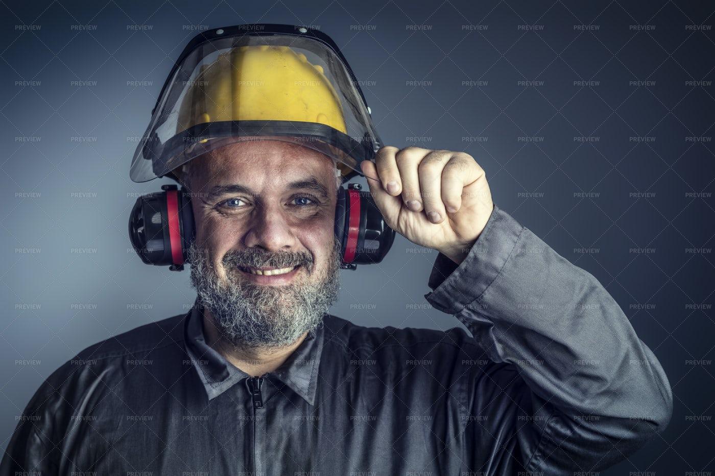 Man In Protective Gear: Stock Photos