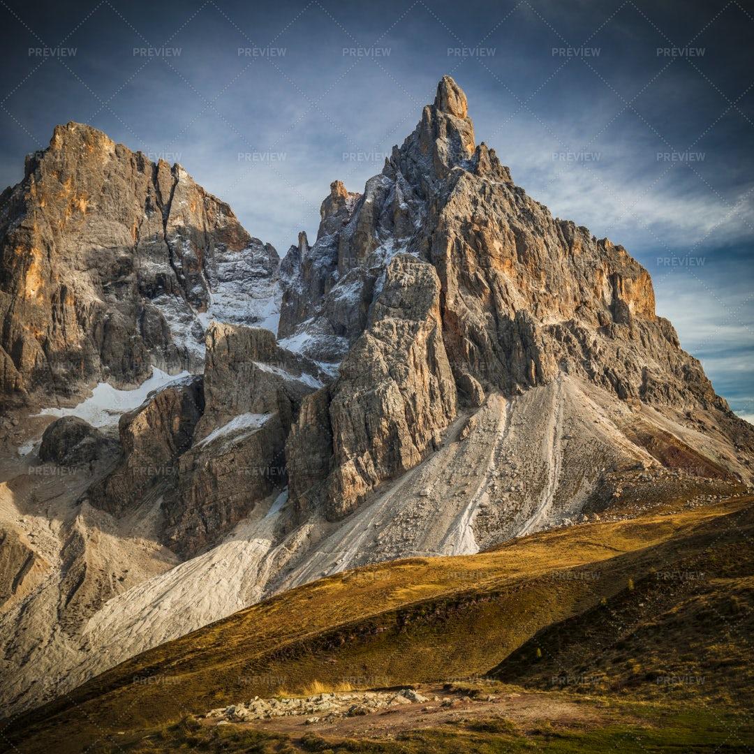 Italian Alps Passo Rolle: Stock Photos