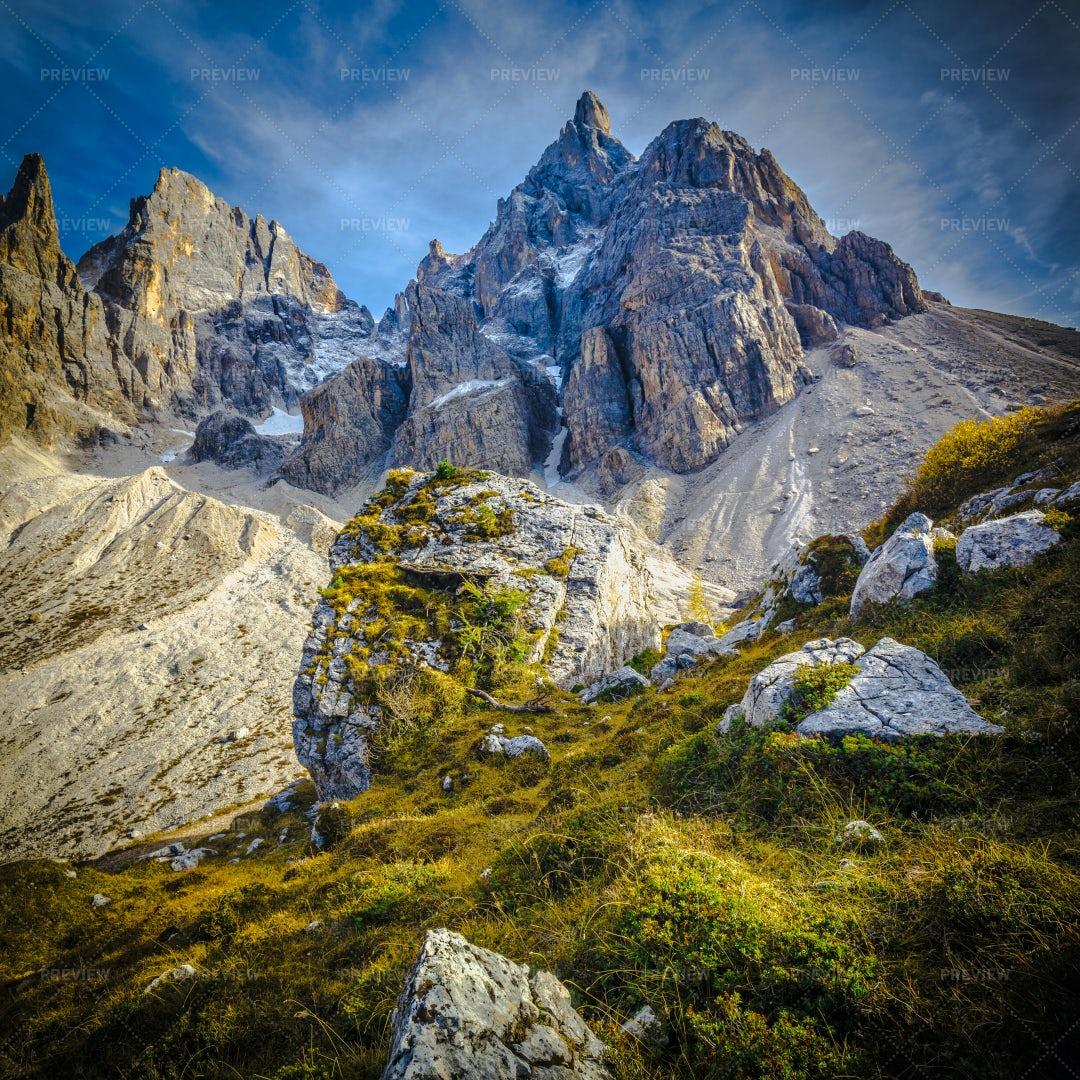 Passo Rolle Alps: Stock Photos