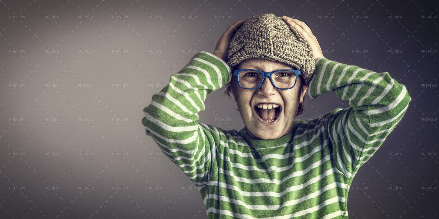 Boy Showing Anger: Stock Photos