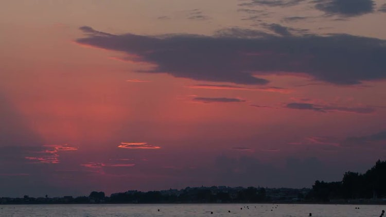 Sunset Time-lapse Over Sea: Stock Video